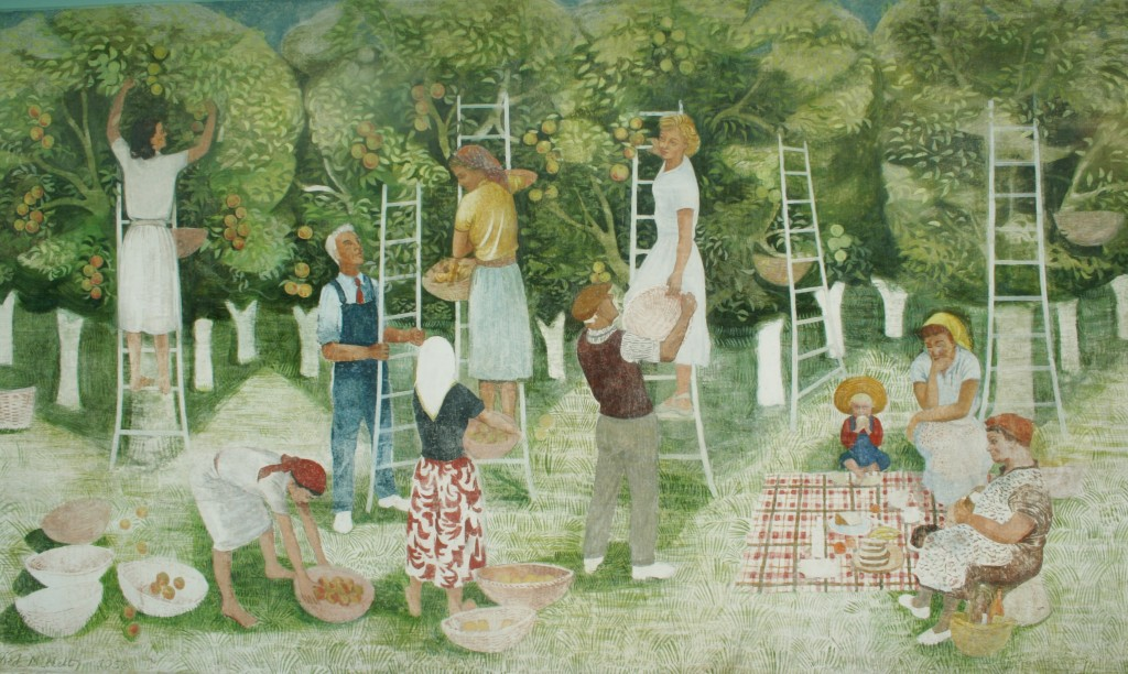 The restored 'Summer' mural September 2011