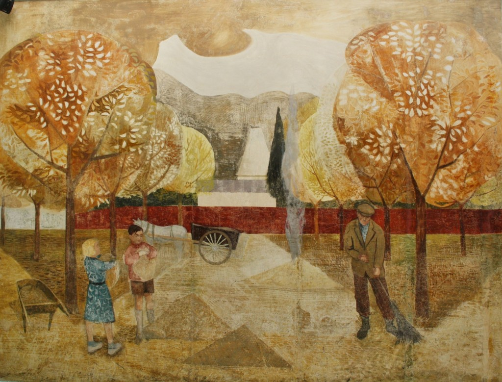 The restored 'Autumn' mural September 2012